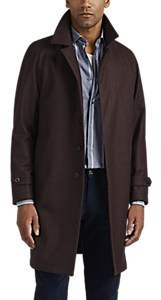 Barneys New York Men's Wool-Cashmere Topcoat - Wine