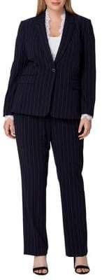 Tahari Arthur S. Levine Pinstripe Jacket and Pant Suit