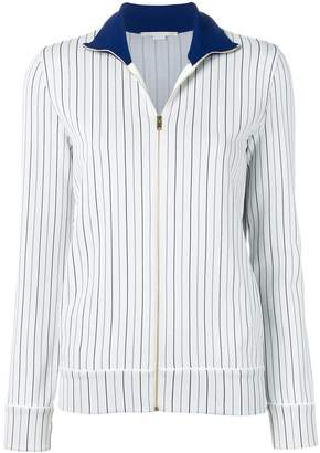 Stella McCartney zip-front pinstripe cardigan