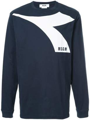 MSGM X Diadora long sleeve T-shirt