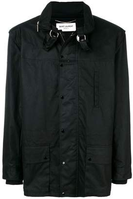 Saint Laurent stowaway hood parka coat