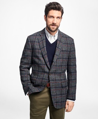 Brooks Brothers Regent Fit Harris Tweed Multi-Windowpane Sport Coat