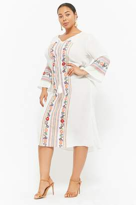 Forever 21 Plus Size Floral Embroidered Dress