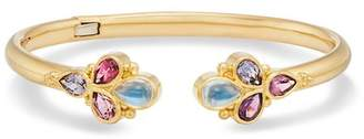 Temple St. Clair 18K Yellow Gold Seta Bella Blue Moonstone & Spinel Bracelet