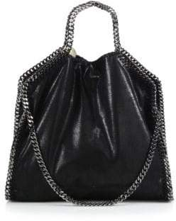 Stella McCartney Shaggy Falabella Fold-Over Small Tote