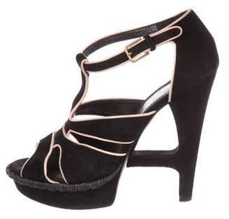 Saint Laurent Suede Cutout Sandals