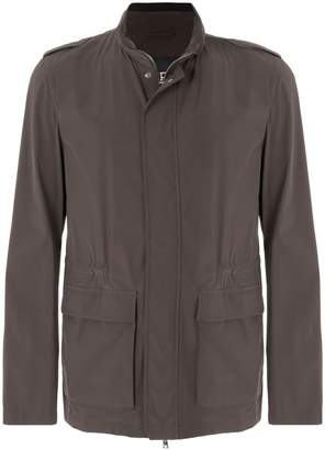 Herno mid length elastic waist jacket