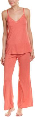 Natori Feathers Essential 2Pc Pajama Pant Set