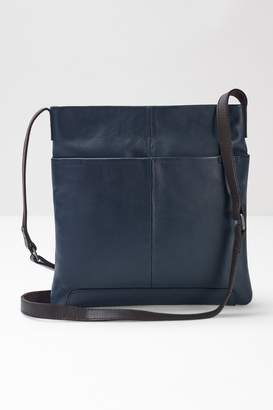 White Stuff Womens Blue Issy Leather Cross Body Bag - Blue