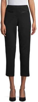 Supply & Demand Brita Faux Leather-Trimmed Cropped Pants