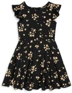 Ralph Lauren Little Girl's& Girl's Floral Flutter Dress