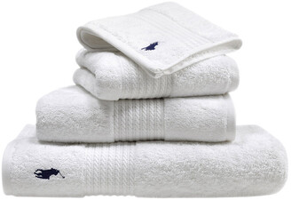 Ralph Lauren Home Player Towel - White - Hand Towel