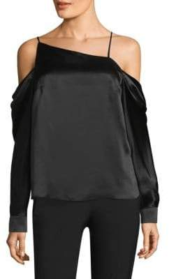 Parker Amelia Asymmetrical Cold-Shoulder Top