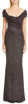 Talbot Runhof Stardust Stretch Jersey Gown