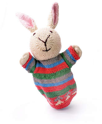 ChunkiChilli Hand Knitted Organic Cotton Rabbit Puppet