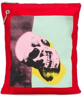 Calvin Klein 205W39nyc x Andy Warhol skull print pouch