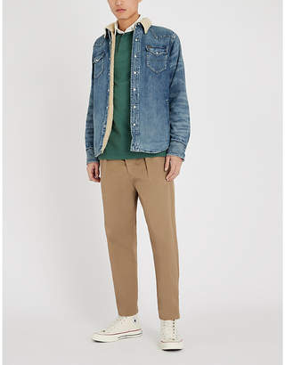 Polo Ralph Lauren Western denim and faux-shearling overshirt
