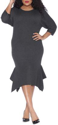 SLINK Jeans Handkerchief Hem Sweater Dress