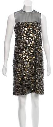 Max Mara Embellished Knee-Length Dress