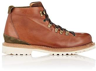Buttero Men's Suede-Trimmed Leather Hiking Boots