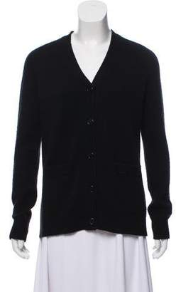 Organic by John Patrick Wool-Blend Button-Up Knit Cardigan