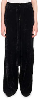 Proenza Schouler Slouchy Wide-Leg Velvet Trousers