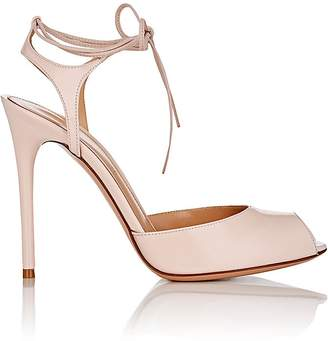 Gianvito Rossi Women's Muse Patent Leather Ankle-Tie Sandals