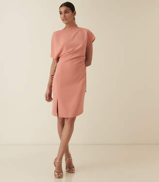 Reiss MARCIA WAIST DETAIL DRESS Pink