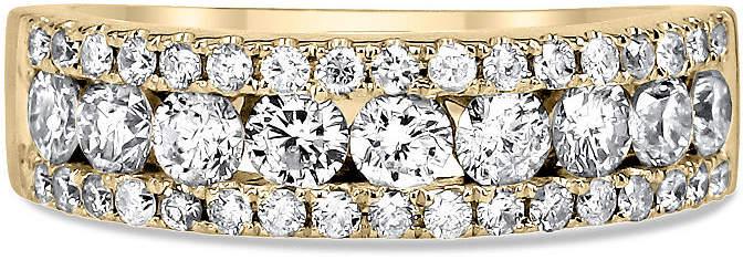 MODERN BRIDE Womens 1 1/2 CT. T.W. White Diamond 14K Gold Wedding Band