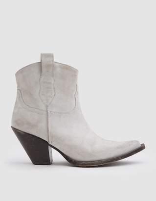 Maison Margiela Short Cowboy Boot in Milk