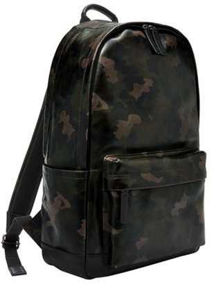 Fossil Buckner Backpack Bag Grey Multi