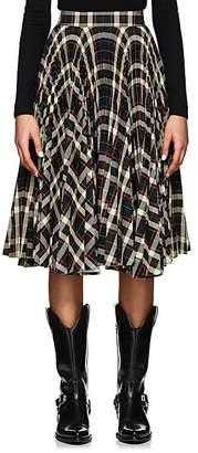 Calvin Klein Women's Pleated Plaid Twill Full Skirt