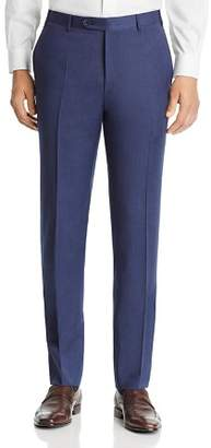 Canali Siena Mélange Twill Solid Classic Fit Dress Pants