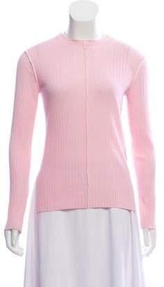 Celine Rib Knit Crew Neck Sweater
