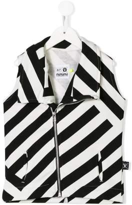 Nununu 360 striped waistcoat