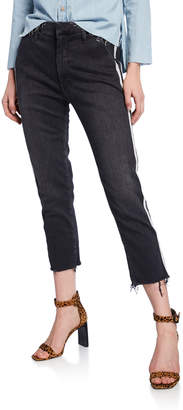 Mother The Shaker Prep Crop Jeans w/ Stripes