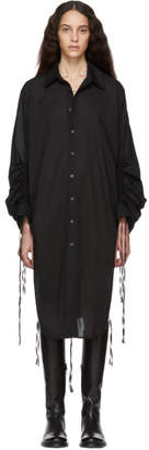 Ann Demeulemeester Black Long Sleeve Shirt Dress