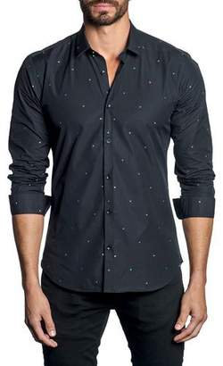 Jared Lang Men's Modern-Fit Multi-Star Long-Sleeve Shirt