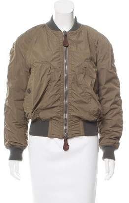 Burberry Zip-Up Bomber Jacket