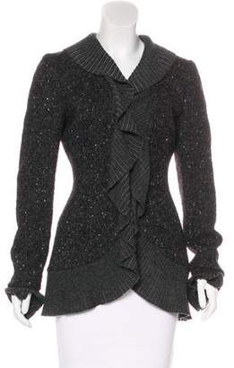 Ungaro Wool Ruffle-Trimmed Cardigan