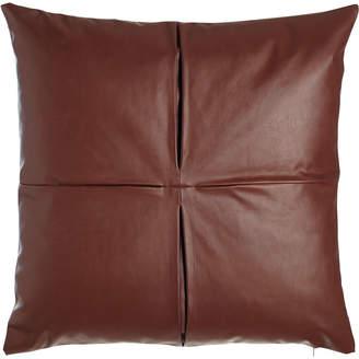 """Cloud 9 Design Faux-Leather Pillow, 26""""Sq."""