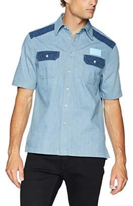Calvin Klein Jeans Men's Short Sleeve Button Down Uniform Shirt