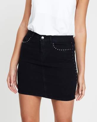 Vero Moda Metal Stud Denim Skirt