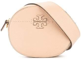 Tory Burch logo plaque round bag