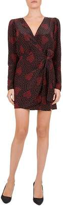 The Kooples Heart-Print Wrap Dress