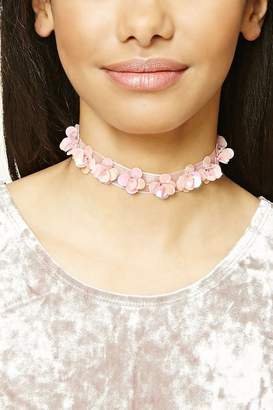 Forever 21 Sequined Floral Choker