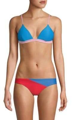 Onia Danni Ribbed Bikini Top