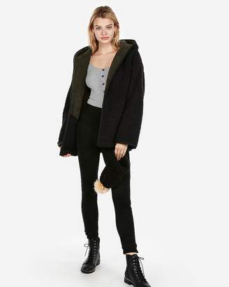 Express Two-Tone Sherpa Lounge Jacket