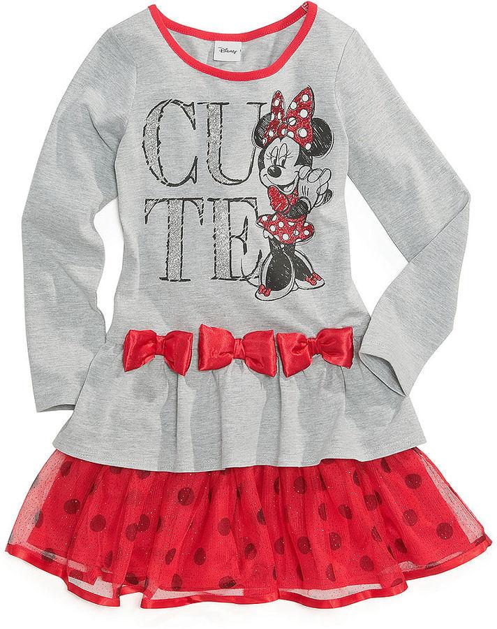 Disney Girls Dress, Little Girls Minnie Mouse Tutu Dress