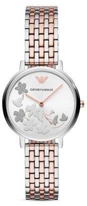 Emporio Armani Three Hand Stainless Steel Watch, 41 mm